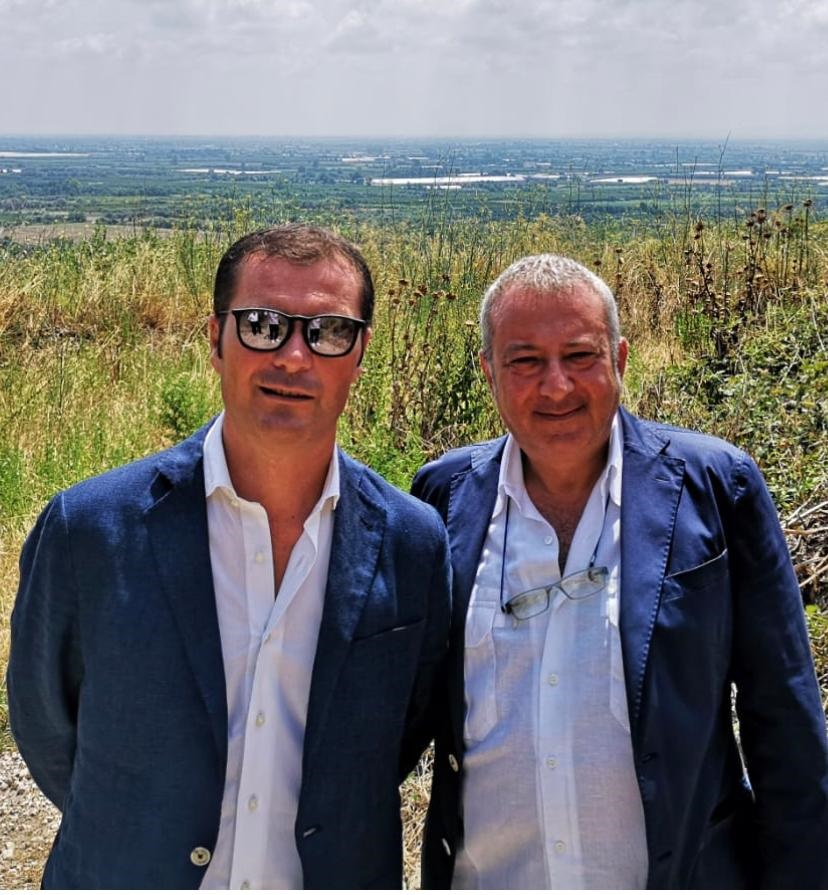 Giovanni Zannini e il sindaco Virgilio Pacifico